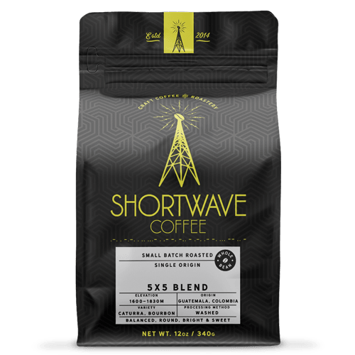 Shortwave Coffee 5x5 Blend 12oz Bag