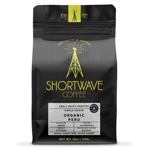 Shortwave Coffee Organic Peru 12oz Bag
